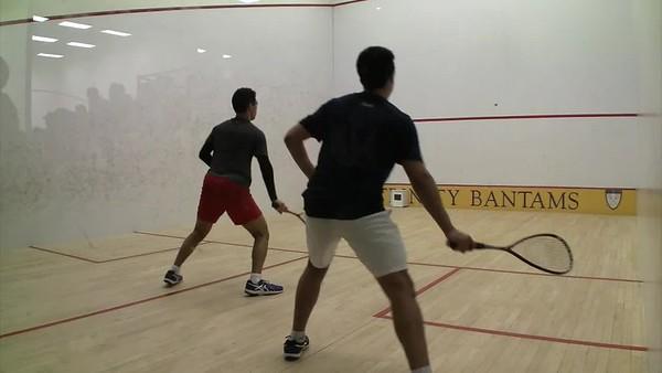 2018 MCSA Team Championships: Belal Nawar (St. Lawrence) and Ziad Sakr (Trinity)