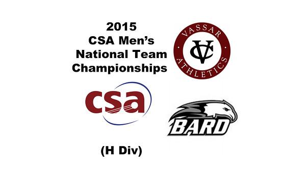 2015 MCSA Team Championships -  H Division: Vincent Mencotti (Vassar) and John Levering (Bard)