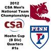 2012 Men's College Squash Association National Team Championships - Hoehn Cup (B Division): Thomas Mattsson (Penn) and Robert Burns (Bates) - #1s