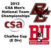 2013 Men's College Squash National Team Championships: Nicholas Gadsden (Boston College) and Jonathan Chambers (Boston University)