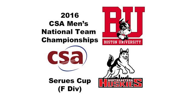 2016 CSA Team Championships -  Serues Cup: Evan Jacobson (Northeastern) and Parker Tonissi (Boston University)