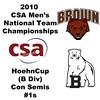 2010 Men's National Team Championships - Hoehn Cup, #1s: Palmer Higgins (Bowdoin) and Brad Thompson (Brown)