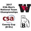 2017 MCSA Team Championships - Conroy Cup: Benjamin Bristol (Bowdoin) and Zach Roach (Wesleyan)