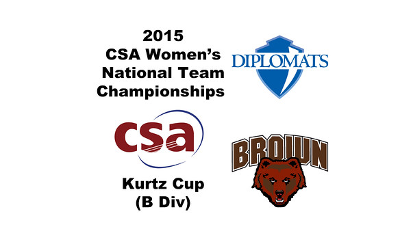 2015 WCSA Team Championships - Kurtz Cup: Fiona Murphy (F&M) and Emily Richmond (Brown)