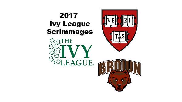 2017 Ivy League Scrimmages: Alyssa Mehta (Harvard) and Hannah Seckendorf (Brown)