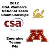 a18 2012 Women's College Squash Association National Team Championships - Emerging Teams Division: Morgan Pearce (Minnesota) and Eugenia Kang (Cal)