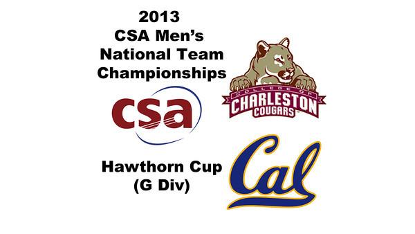 2013 Men's College Squash National Team Championships: Evan Casciato (Charleston) and  (Cal)