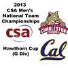 2013 Men's College Squash National Team Championships: Jeffrey Heath (Charleston) and Ola Swensson (Cal)