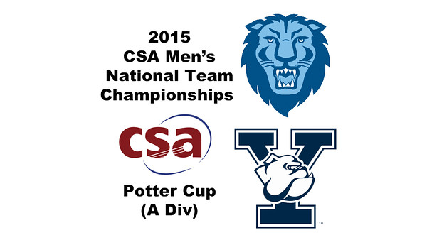 2015 MCSA Team Championships -  Potter Cup: Rishi Tandon (Columbia) and Liam McClintock (Yale)