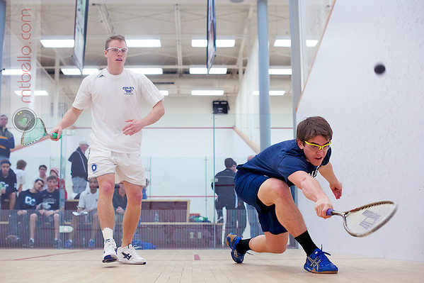 2011 Wesleyan Round Robin: Peter Gabranski (Colby) and Connor Kirschbaum (Conn)