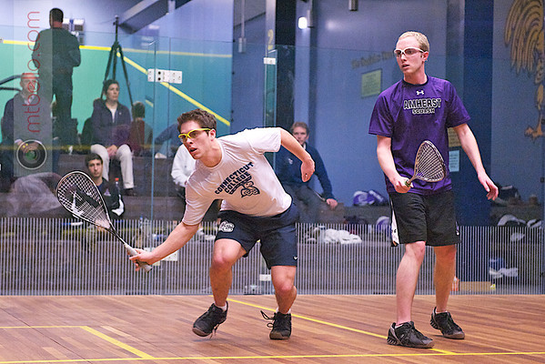 2012 NESCAC Championships: Steve Severson (Amherst) and Christopher King (Conn College)