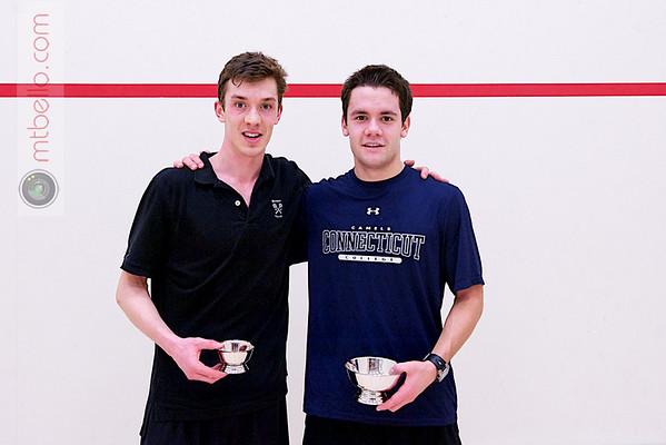 2012 College Squash Individual Championships: Barrett Takesian (Bowdoin) and Caleb Garza (Conn College)
