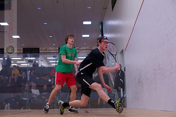 2013 College Squash Individual Championships: John Steele (Wesleyan) and Ryan Todd (Cornell)