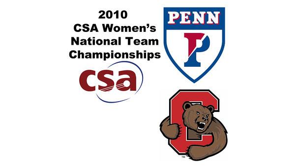 2010 Women's National Team Championships: #1s - Yarden Odinak (Penn) and Liza Stokes (Cornell)