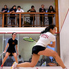2012 College Squash Individual Championships: Casey Cortes (Princeton) and Rachel Au (Cornell)