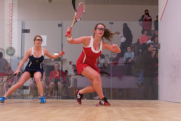 2012 Cornell at Trinity: Whitney Hartmeyer (Trinity) and Jacqueline Wagner (Cornell)