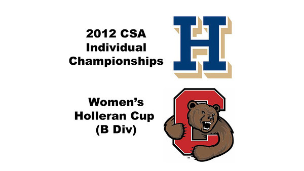Holleran Cup (Round of 64): Rachel Au (Cornell) and Hannah Coffin (Hamilton)