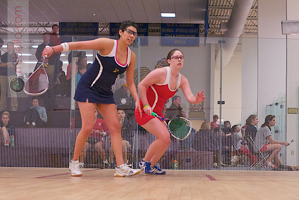 2012 Cornell at Trinity: Pamela Larromana (Trinity) and Laura Caty (Cornell)