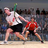 2011 Pool Trophy Final: Todd Harrity (Princeton) and Nick Sachvie (Cornell)<br /> <br /> This photo was published in the March 2011 issue of Squash Magazine (page 33).