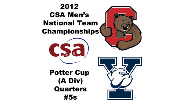 2012 Men's College Squash Association National Team Championships - Potter Cup (A Division): William Hartigan (Cornell) and Ryan Dowd (Yale) - #5s