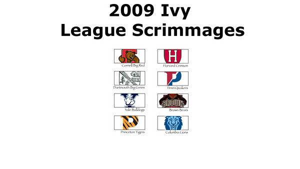 2009 Ivy League Scrimmages Overview Video