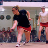 Kristen Lange (Penn) and Rebecca Hazell (Cornell)<br /> <br /> This photo was published in the October 2010 issue of Squash Magazine (page 6).