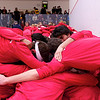 2012 Cornell at Trinity: Cornell huddle