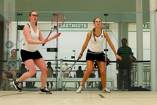 Sarah Loucks (Dartmouth) and Christiana Whitcomb (Bowdoin)