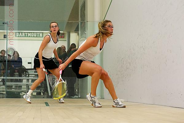 Hannah Conant (Dartmouth) and Monica Wlodarczyk (Bowdoin)