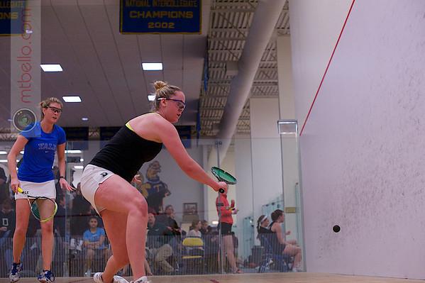 2013 College Squash Individual Championships: Nina Scott (Dartmouth) and Lillian Fast (Yale)