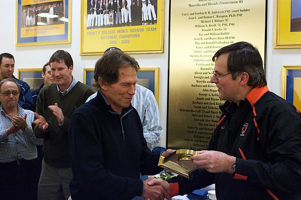 Princeton's Bob Callaham and former Dartmouth Coach John Power