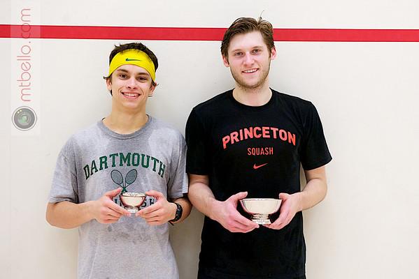 2012 College Squash Individual Championships: Nick Sisodia (Dartmouth) and Chris Callis (Princeton)