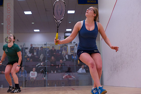 2013 College Squash Individual Championships: Katie Ballaine (Yale) and Corey Schafer (Dartmouth)