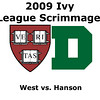 2009 Ivy League Scrimmages: Chris Hanson (Dartmouth) and Colin West (Harvard)