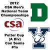 2012 Men's College Squash Association National Team Championships - Potter Cup (A Division): Chris Hanson (Dartmouth) and Kenneth Chan (Yale)