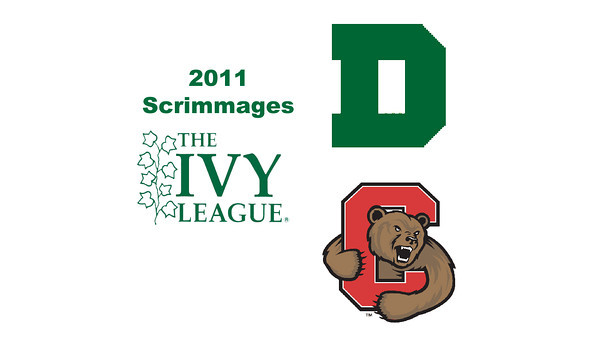2011 Ivy League Scrimmages (Women): #3s Sarah Loucks (Dartmouth) and Jaime Laird (Cornell)
