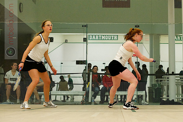 Sarah Loucks (Dartmouth) and Christiana Whitcomb (Bowdoin)