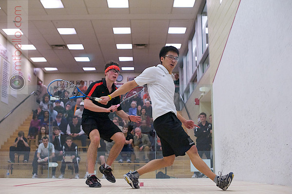 2012 Men's College Squash Association National Team Championships: Luke Lee (Dartmouth) and Tyler Osborne (Princeton)