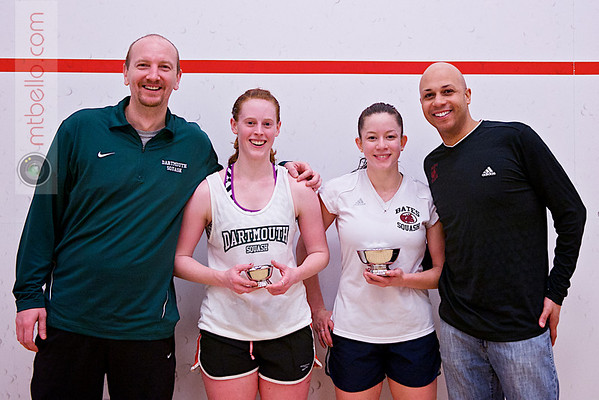2013 College Squash Individual Championships: Pat Cosquer, Hansi Wiens, Myriam Kelly (Bates) and Sarah Loucks (Dartmouth)
