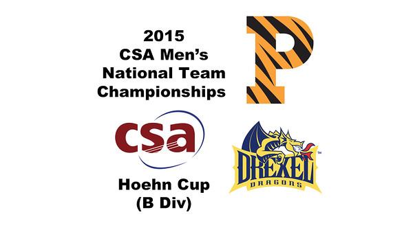 2015 MCSA Team Championships -  Hoehn Cup: Michael LeBlanc (Princeton) and Mark Kauf (Drexel)