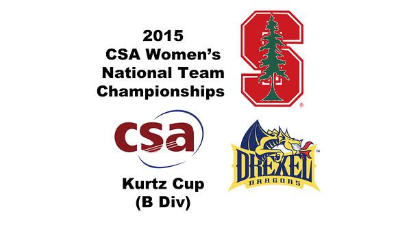 2015 WCSA Team Championships - Kurtz Cup: Zandra Ho (Stanford) and Hayley Hughes (Drexel)