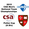 2015 MCSA Team Championships -  Potter Cup: Christopher Fernandez (SLU) and Gavan Hitchenor (F&M)