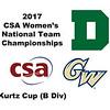 2017 WCSA Team Championships - Kurtz Cup: Engy Elmandouh (George Washington) and Anne Blasberg (Dartmouth)