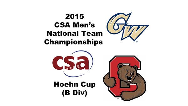 2015 MCSA Team Championships -  Hoehn Cup: August Jones (Cornell) and John Bassett (George Washington)