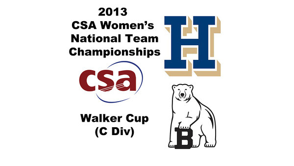 2013 Women's College Squash Association National Team Championships: Bonnie Cao (Bowdoin) and Hillary Kolodner (Hamilton)