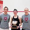 2012 College Squash Individual Championships: Reg Schonborn, Amanda Sobhy (Harvard), Mike Way