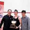 2012 College Squash Individual Championships: Amanda Sobhy (Harvard) and her parents