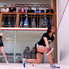 2012 College Squash Individual Championships: Laura Gemmell (Harvard) and Pamela Chua (Stanford)