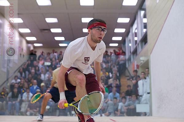 2012 Men's College Squash Association National Team Championships: Miled Zarazua (Trinity) and Gary Power (Harvard)
