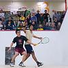 2012 Men's College Squash Association National Team Championships: Vishrab Kotian (Trinity) and Nigel Koh (Harvard)